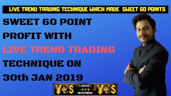 Options Trading India: Live Trend Trading Technique which Made Sweet 60 Point Trend Trading Fortune